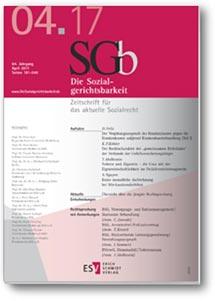Buchcover Aufsatz zur Sozialgerichtsbarkeit SGb von Irene Sommer, Rechtsanwältin in Berlin-Spandau